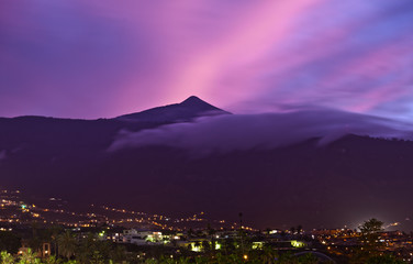 Teide Mountain at Sunset