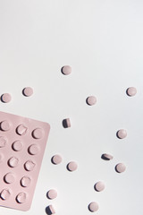 Pink blister pack with pills