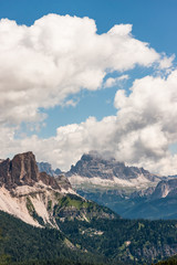 Beautiful Clouds Over Italian Dolomites, Rocky Mountains during Summer