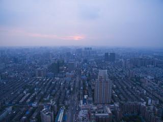 sunset at Chengdu city