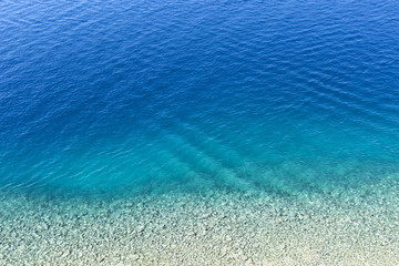 Aerial view of the ripely surface of the Adriatic Sea