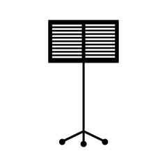 music stand book concert melody vector illustration