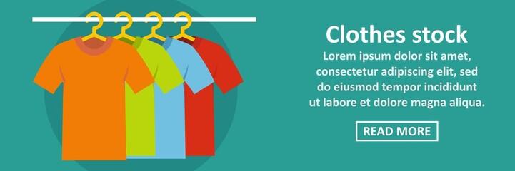 Clothes stock banner horizontal concept