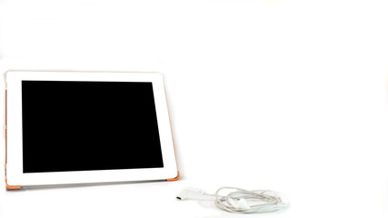 Wall Mural - ipad on white background