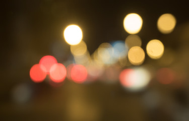 Abstract Bokeh blurred color light close up