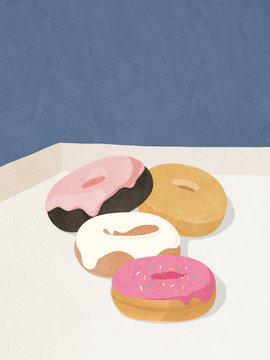 Doughnuts in a box.