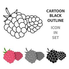 Fototapete - Raspberry, sweet fruit.Fruit single icon in cartoon style vector symbol stock illustration web.
