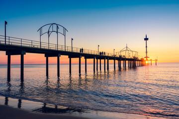 Brighton Beach pier with people