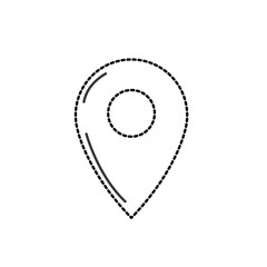 dotted shape symbol ubication to explore map location vector illustration