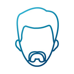 Man smiling cartoon icon vector illustration graphic design