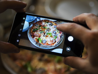 Photographing of food