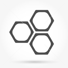 Honeycomb icon vector