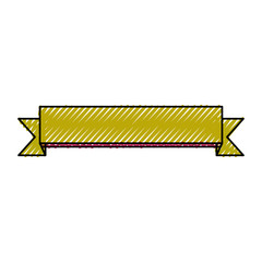 decorative ribbon icon over white background vector illustration