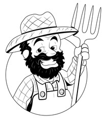 Farmer - vector clip-art illustration