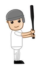 Young Boy - Cartoon Baseball Player