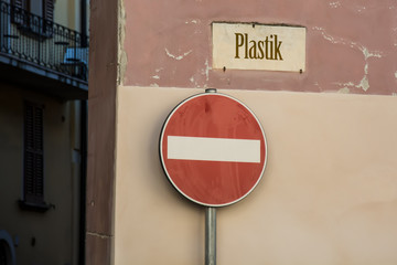 Schild 246 - Plastik