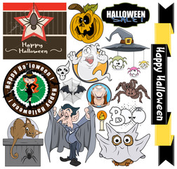Halloween Graphic Designs Set clip-art cartoons
