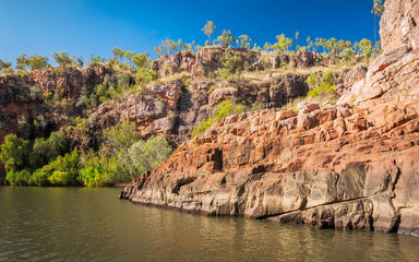 Sandstone cliffs at Katherine River Gorge, Northern Territory, Australia