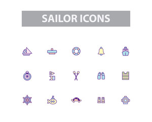 Sailor Vector Icons