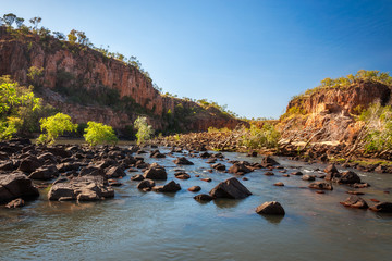 Beautiful scenery at Katherine River Gorge, Northern Territory, Australia