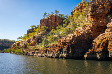 Rocky Sandstone cliffs at Katherine River Gorge, Australia