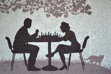 Паттерн люди играют в шахматы