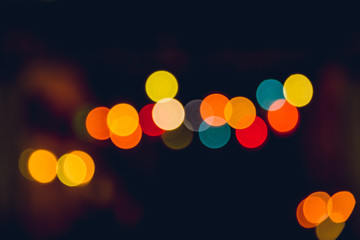 blur colorful nigh bokeh vintage colortone for background