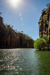 Sunburst at Katherine River Gorge, Northern Territory, Australia