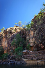 Moon rising at Katherine River Gorge in Northern Territory, Australia