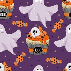 Seamless pattern for Halloween. Vector illustration.