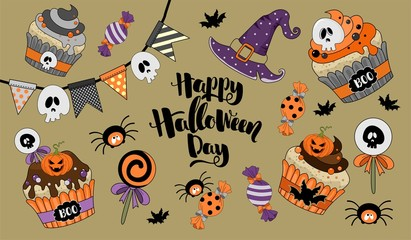 Seamless pattern for Halloween. Vector illustration.