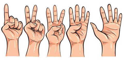 Hand Gesture Doodle Vector Illustration