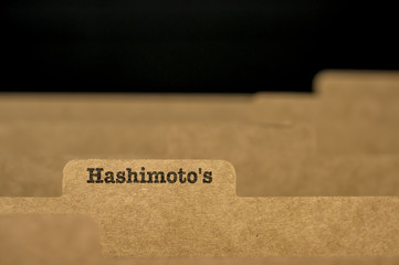 Word Hashimoto's on index card
