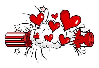 Love Hearts Bomb Vector vector illustration clip-art