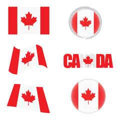 canada flag icon illustration