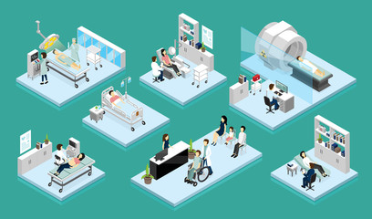 Doctor And Patient Isometric Compositions