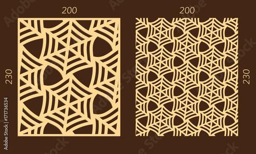 Laser cutting set  Woodcut vector panel  Plywood lasercut