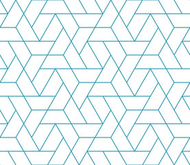 Foto op Canvas Geometrisch simple seamless geometric grid vector pattern