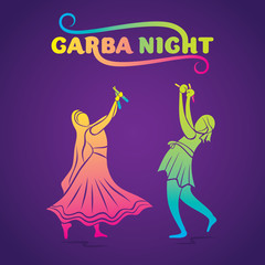 garba night poster design