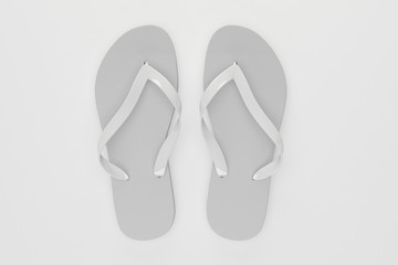 3d rendering slippers isolated on white background mock-up