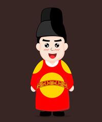 Korean King Dress cartoon