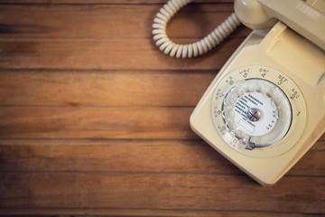 Close up of landline phone
