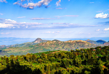 Aerial view to Mago National Park at Omo valley, Etiopia