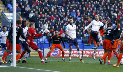 Sheffield United's Aaron Ramsdale saves a shot from Bolton Wanderers' Tom Thorpe