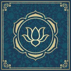 water lily, wedding card design, royal India