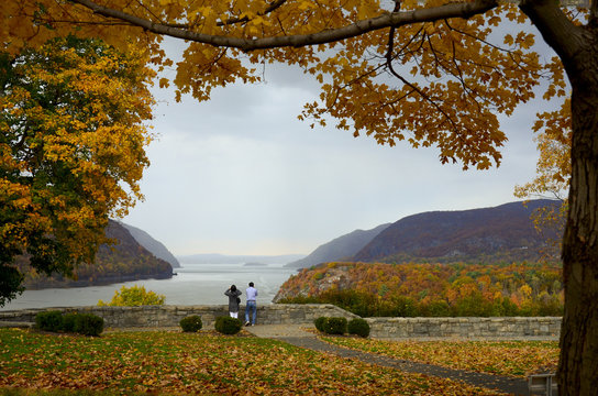 View of the Hudson River from Trophy Point, U.S. Military Academy, West Point, New York