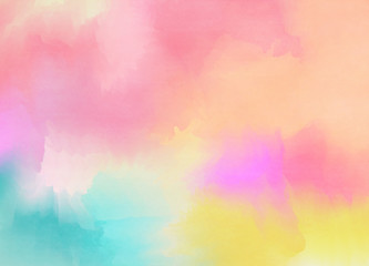 Abstract colorful pastel watercolor with copy space for place your design or invitation card, web background, cell phone case. Digital art painting