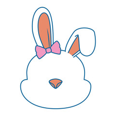 cute female rabbit character icon