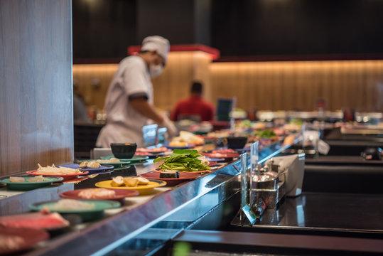 Japan food restaurant belt buffet and chef