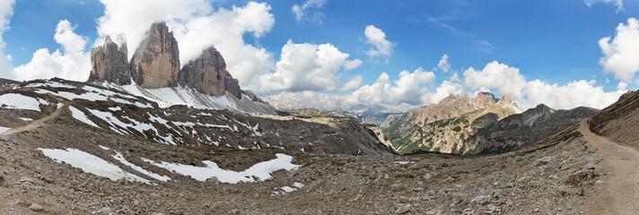 Dolomite alps Tre Cime di Lavaredo